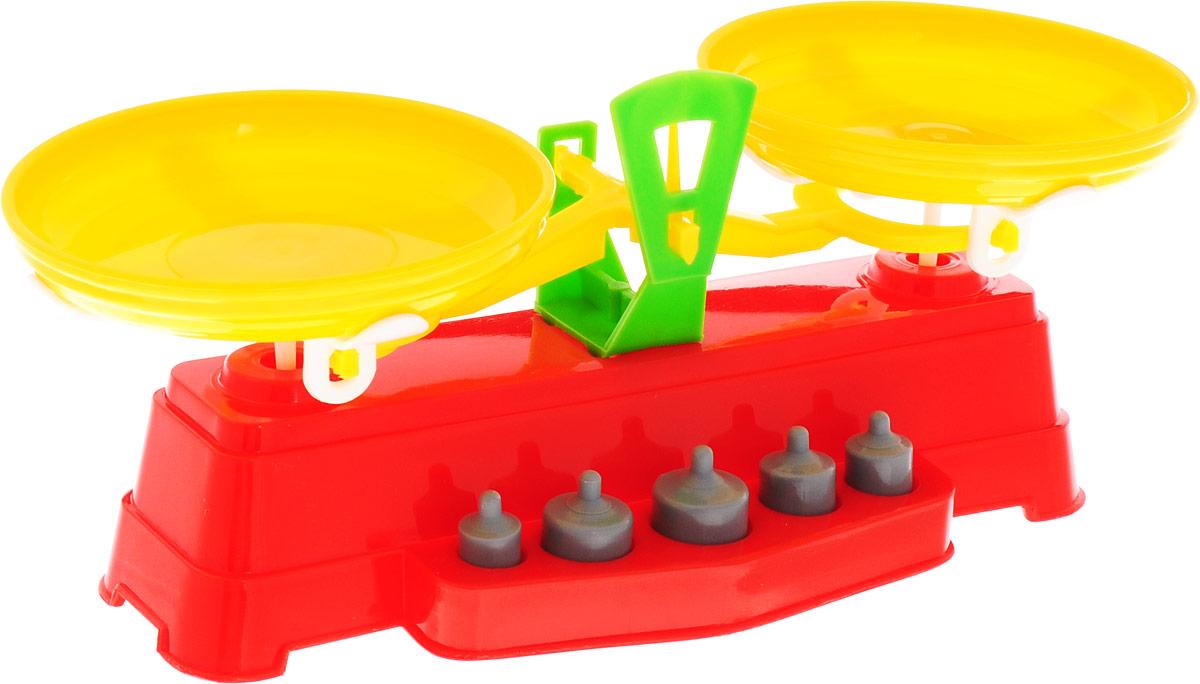 Poltoys Игрушечные весы цвет красный желтый машины игрушечные детские