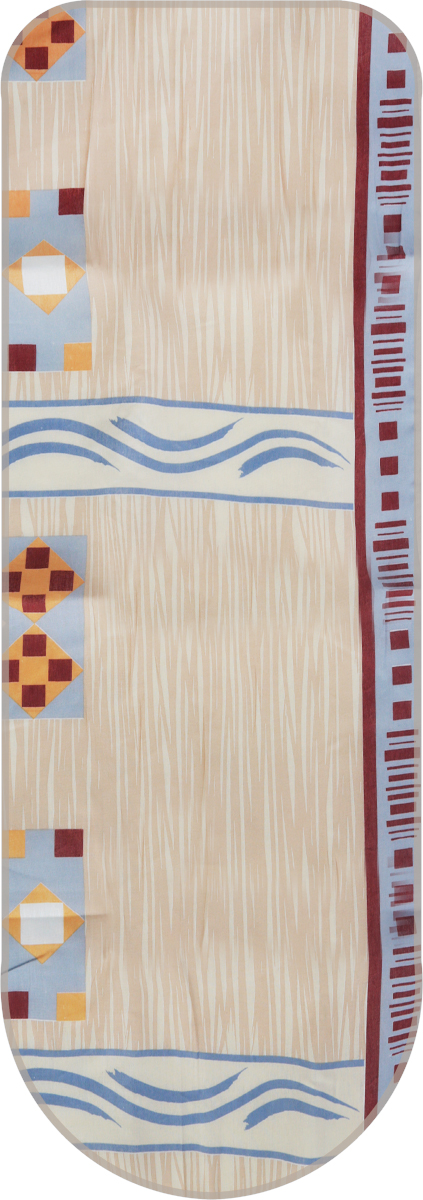 Чехол для гладильной доски Eva, цвет: бежевый, серый, коричневый, 125 см х 47 см чехол для гладильной доски eva цвет серебристый 125 х 47 см