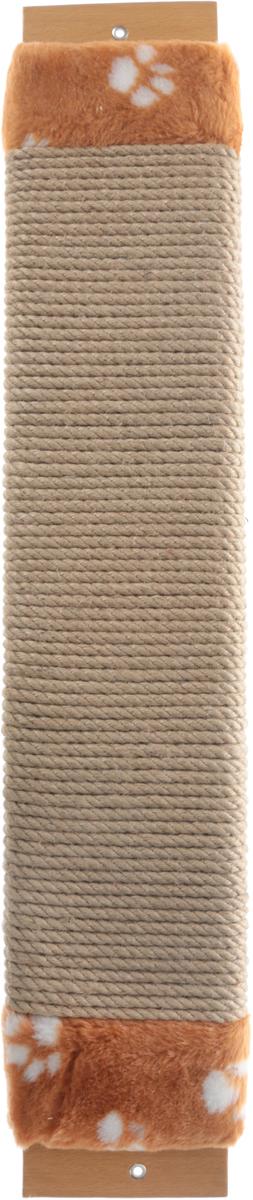 Когтеточка Неженка, джутовая, с кошачьей мятой, цвет: белый, оранжевый, бежевый, 75 х 14 х 4 см7102 коричневый мех_коричневый,бежевыйКогтеточка Неженка поможет сохранить мебель и ковры в доме от когтей вашего любимца, стремящегося удовлетворить свою естественную потребность точить когти. Основание изделия изготовлено из ДСП. По краям расположен искусственный мех, а центр состоит из плотных джутовых шнуров. Товар продуман в мельчайших деталях и, несомненно, понравится вашей кошке. Когтеточка - один из самых необходимых аксессуаров для кошки, так как всем кошкам необходимо стачивать когти. Когтеточка Неженка поможет вашему любимцу стачивать когти и при этом не портить вашу мебель.