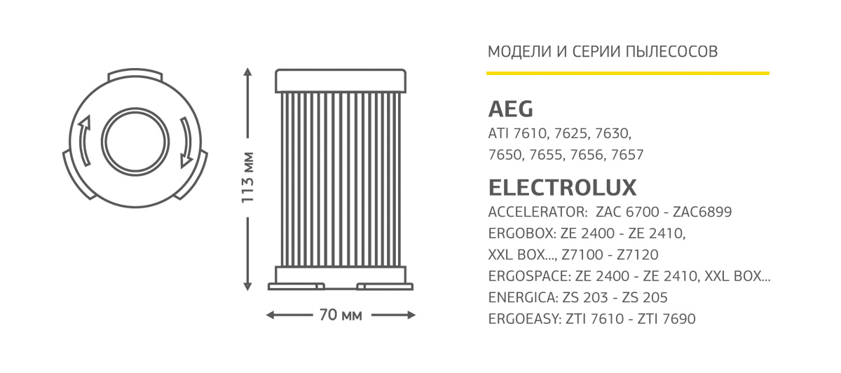 Neolux HEL-02НЕРА-фильтр для пылесоса Electrolux Neolux
