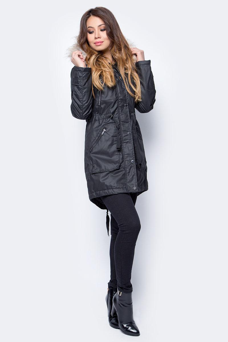 Парка женская Top Secret, цвет: черный. SKU0808CA. Размер 36 (46) woolrich черная парка с накладными карманами