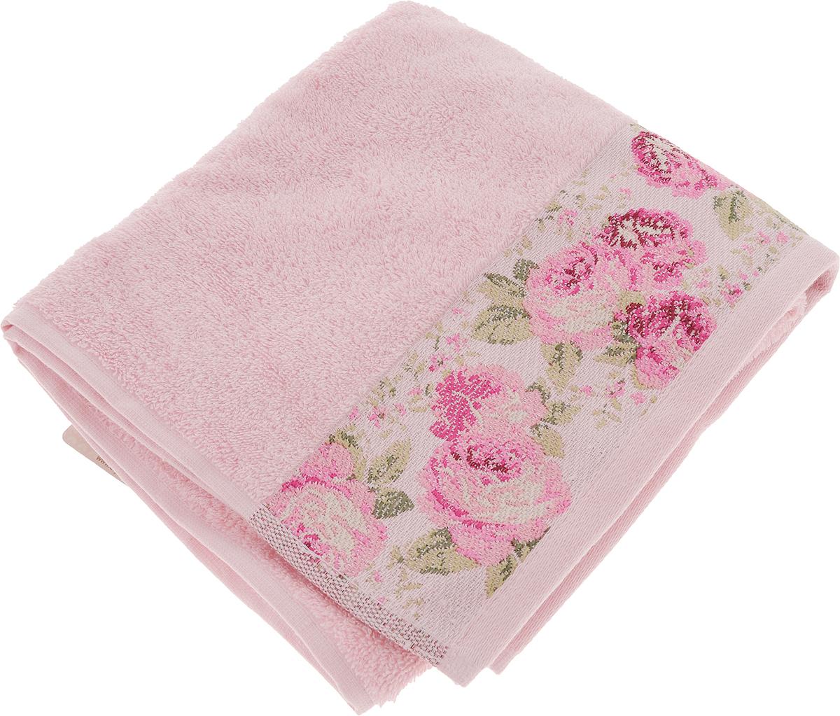 Полотенце Arya Desima, цвет: розовый, 50 x 90 смTR1002516_РозовыйПолотенце Arya Desima выполнено из 100% хлопка. Изделие отлично впитывает влагу, быстро сохнет, сохраняет яркость цвета и не теряет форму даже после многократных стирок. Такое полотенце очень практично и неприхотливо в уходе. Оно создаст прекрасное настроение и украсит интерьер в ванной комнате.