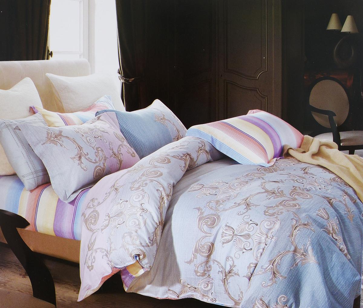 Комплект белья Arya Paola, 2-спальный, наволочки 50х70, 70х70TR1002016Роскошный комплект постельного белья Arya Paola состоит из пододеяльника, простыни и 4 наволочек, выполненных из сатина (100% хлопка). Сатин - прочная и плотная ткань с диагональным переплетением нитей. Сатиновое постельное белье легко переносит стирку в горячей воде, не выцветает, не соскальзывает с кровати и приятно на ощупь.Благодаря такому комплекту постельного белья вы создадите неповторимую атмосферу в вашей спальне.