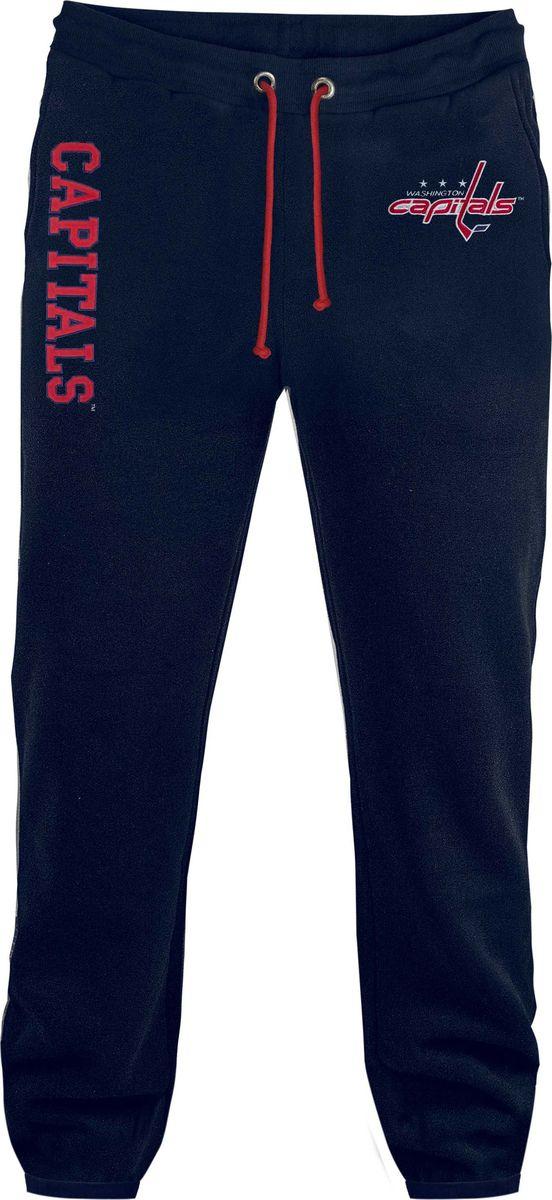 Брюки спортивные мужские Atributika & Club Washington Capitals, цвет: синий. 45220. Размер XL (52/54)45220Мужские спортивные брюки великолепно подойдут для отдыха и занятий спортом. Брюки с широкой эластичной резинкой в поясе.