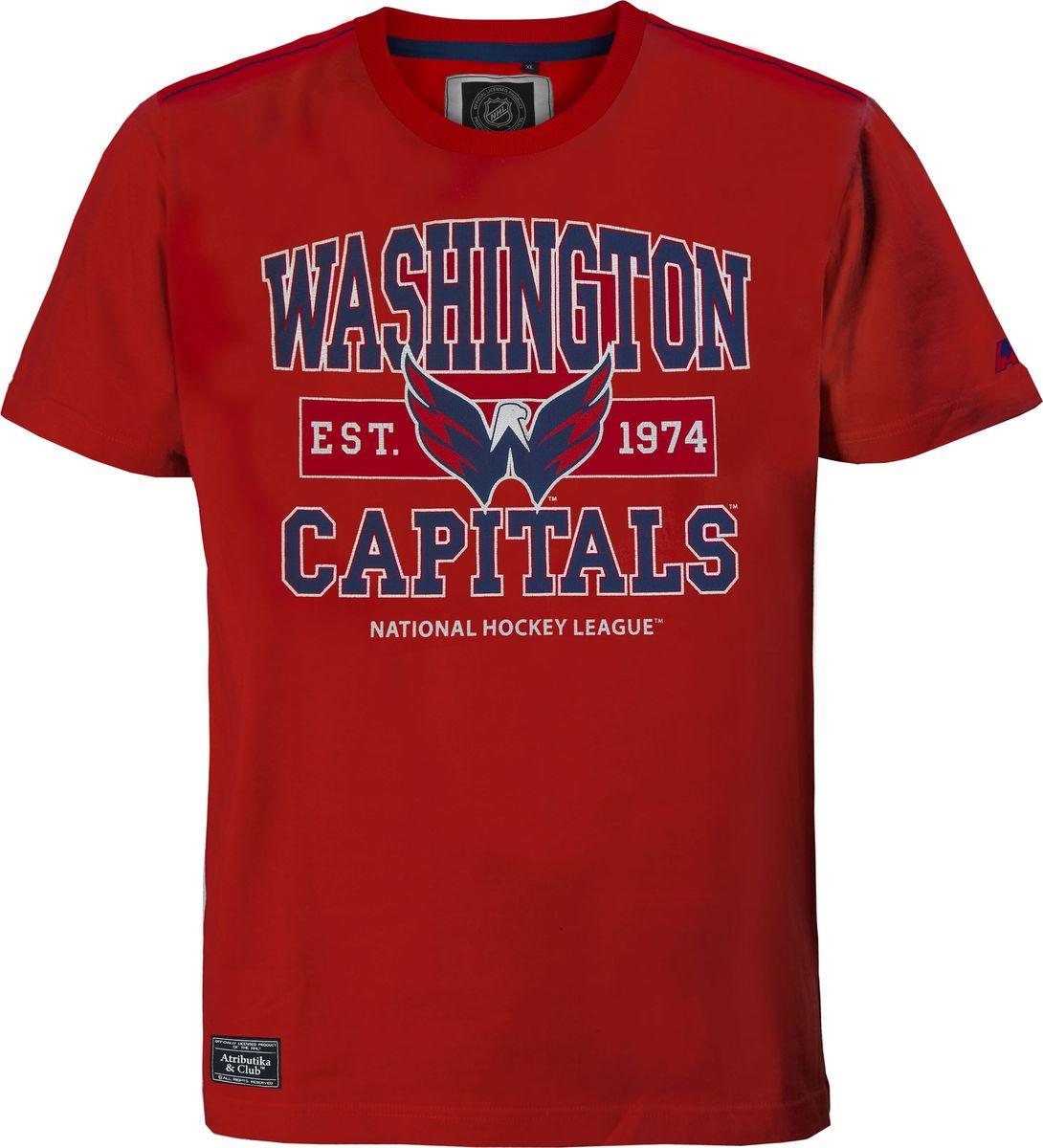 Футболка мужская Atributika & Club Washington Capitals, цвет: красный. 29930. Размер L (50)29930