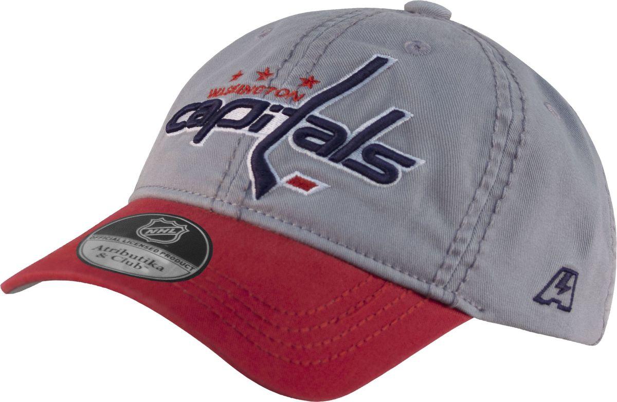 Бейсболка детская Atributika & Club Washington Capitals, цвет: серый. 29089. Размер 52/5429089Бейсболка выполнена из высококачественного материала. Модель дополнена широким твердым козырьком и оформлена объемной вышивкой.