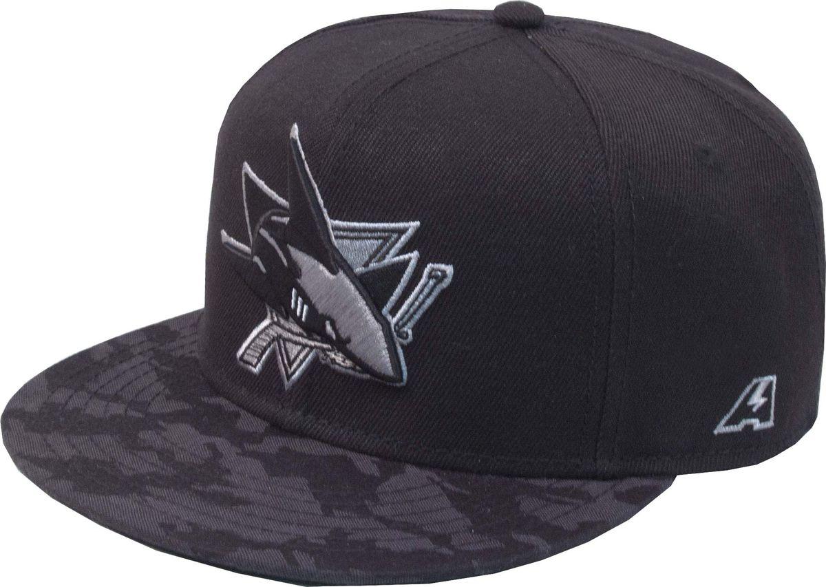 Бейсболка Atributika & Club San Jose Sharks, цвет: черный. 29063. Размер 55/5829063