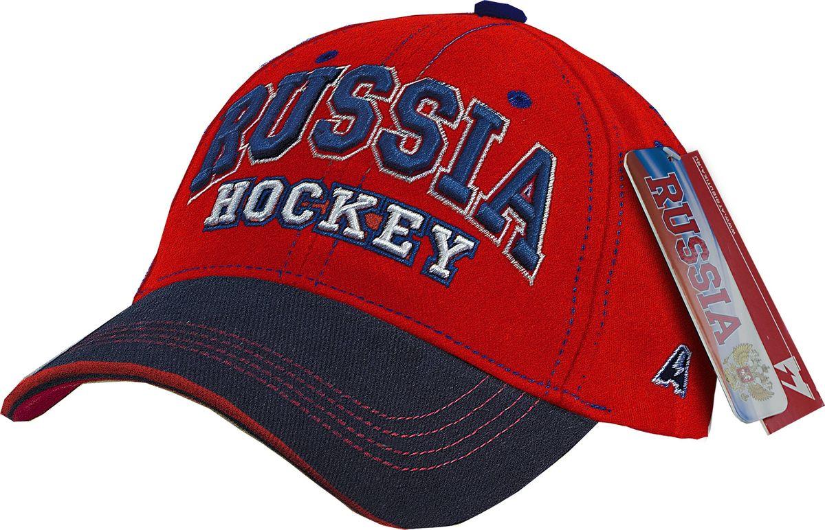 Бейсболка Atributika & Club Россия, цвет: красный, синий. 10139. Размер 55/58