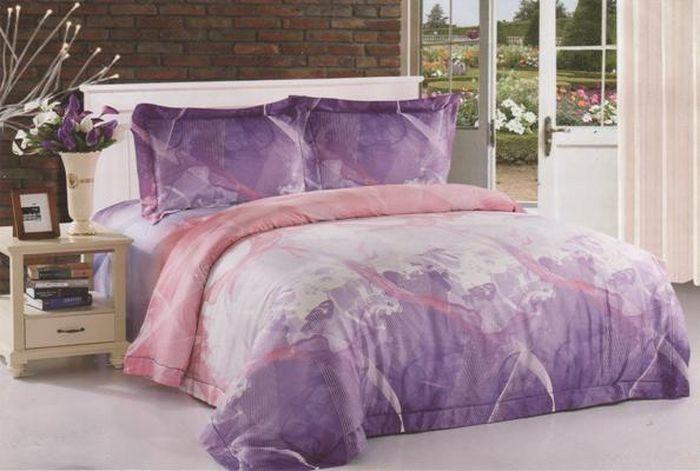 Комплект белья Soft Line, евро, наволочки 50x70, цвет: сиреневый. 0630006300