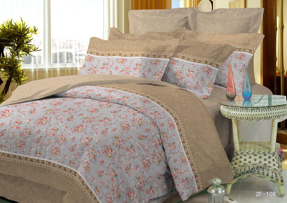 Комплект белья Soft Line, 2-спальный, наволочки 50x70, цвет: бежевый. 0727107271