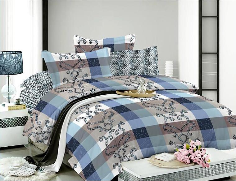 Комплект белья Soft Line, 1,5-спальный, наволочки 50x70, цвет: синий. 0730507305Роскошный комплект постельного белья Soft Line выполнен из качественного плотного сатина и украшен оригинальным рисунком. Комплект состоит из пододеяльника, простыни и двух наволочек. Постельное белье Soft Line подобно облаку сочетает в себе плотность цвета и безграничную нежность фактуры. Это белье обладает волшебной практичностью, а потому оказываться на седьмом небе станет вашим привычным занятием. Доверьте заботу о качестве вашего сна высококачественному натуральному материалу. Сатин - это ткань из 100% натурального хлопка. Мягкость и нежность материала создает чувство комфорта и защищенности. Классический натуральный природный материал делает это постельное белье нежным, элегантным и приятным. Советы по выбору постельного белья от блогера Ирины Соковых. Статья OZON Гид