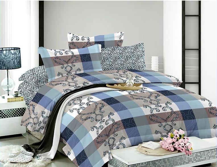 Комплект белья Soft Line, евро, наволочки 50x70, цвет: синий. 0730707307Роскошный комплект постельного белья Soft Line выполнен из качественного плотного сатина и украшен оригинальным рисунком. Комплект состоит из пододеяльника, простыни и двух наволочек.Постельное белье Soft Line подобно облаку сочетает в себе плотность цвета и безграничную нежность фактуры. Это белье обладает волшебной практичностью, а потому оказываться на седьмом небе станет вашим привычным занятием.Доверьте заботу о качестве вашего сна высококачественному натуральному материалу.Сатин - это ткань из 100% натурального хлопка. Мягкость и нежность материала создает чувство комфорта и защищенности. Классический натуральный природный материал делает это постельное белье нежным, элегантным и приятным.