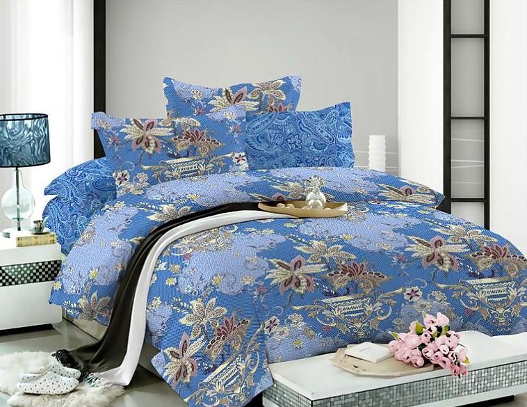 Комплект белья Soft Line, евро, наволочки 50x70, цвет: синий. 0731207312Роскошный комплект постельного белья Soft Line выполнен из качественного плотного сатина и украшен оригинальным рисунком. Комплект состоит из пододеяльника, простыни и двух наволочек.Постельное белье Soft Line подобно облаку сочетает в себе плотность цвета и безграничную нежность фактуры. Это белье обладает волшебной практичностью, а потому оказываться на седьмом небе станет вашим привычным занятием.Доверьте заботу о качестве вашего сна высококачественному натуральному материалу.Сатин - это ткань из 100% натурального хлопка. Мягкость и нежность материала создает чувство комфорта и защищенности. Классический натуральный природный материал делает это постельное белье нежным, элегантным и приятным.