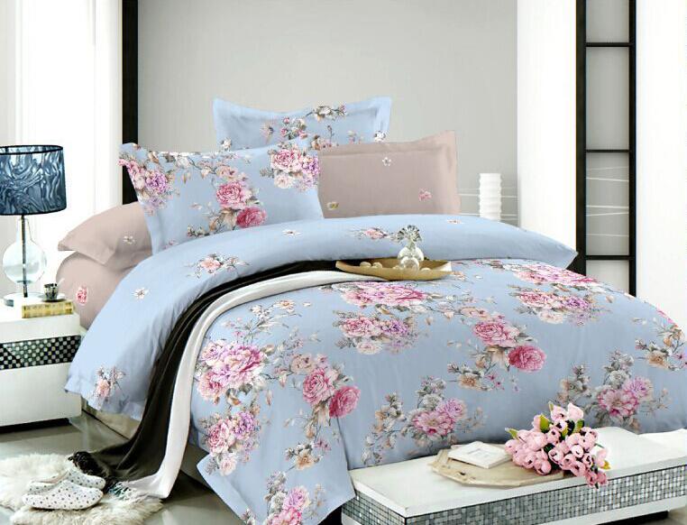 Комплект белья Soft Line, 1,5-спальный, наволочки 50x70, цвет: голубой. 0731507315