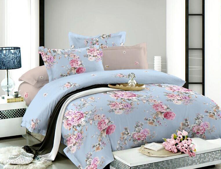 Комплект белья Soft Line, 2-спальный, наволочки 50x70, цвет: голубой. 0731607316