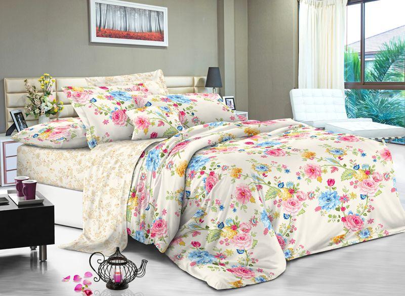 Комплект белья Soft Line, 2-спальный, наволочки 50x70, цвет: розовый. 07326