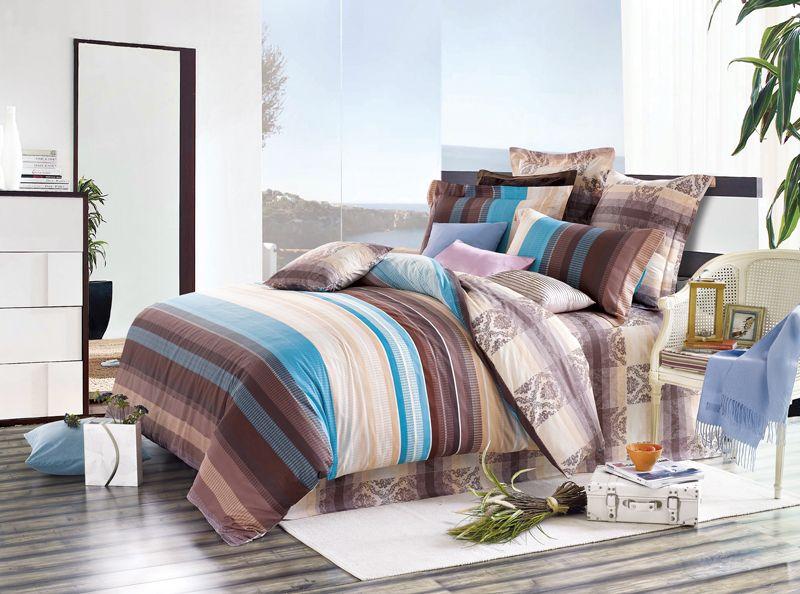 Комплект белья Soft Line, евро, наволочки 50x70, цвет: коричневый. 0734207342