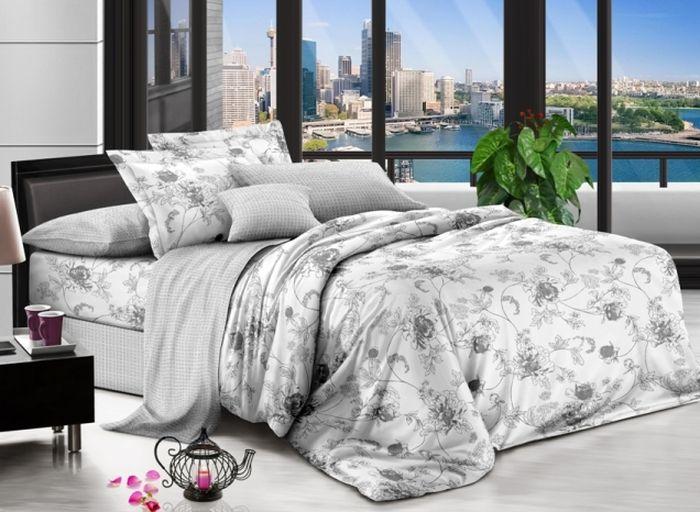 Комплект белья Soft Line, 1,5-спальный, наволочки 50x70, цвет: серый. 0734507345