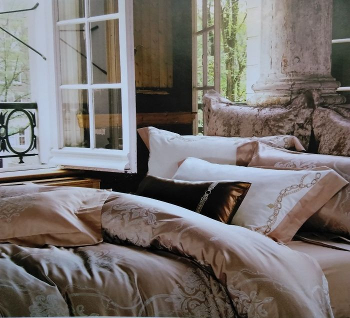 Комплект белья Soft Line, евро, наволочки 50x70, цвет: бежевый. 1014310143