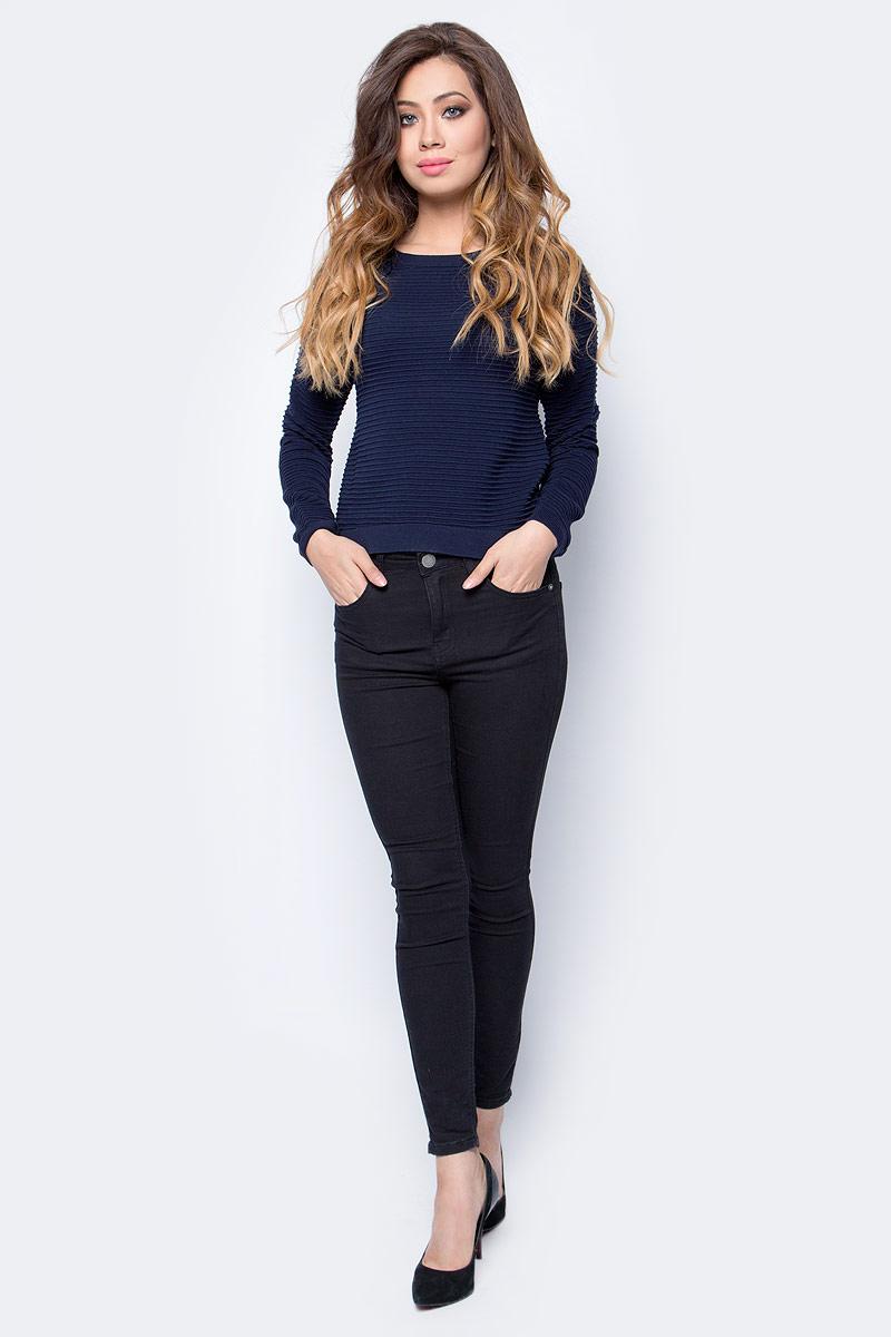 Джемпер женский Tom Tailor, цвет: синий. 3023001.09.71_6593. Размер M (46)3023001.09.71_6593Джемпер женский Tom Tailor выполнен из натурального хлопка. Материал изделия мягкий и тактильно приятный, не стесняет движений и обладает высокими дышащими свойствами. Модель с длинными рукавами и круглым вырезом горловины.