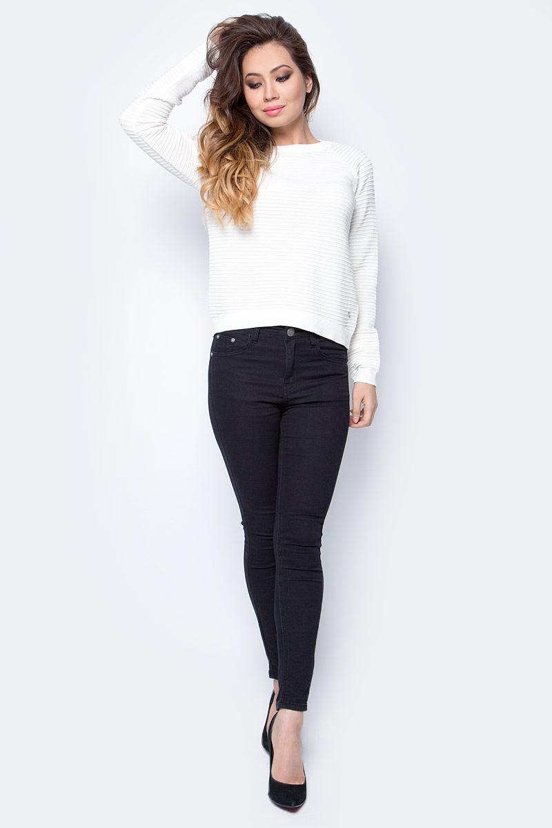 Джемпер женский Tom Tailor, цвет: белый. 3023001.09.71_8005. Размер L (48)3023001.09.71_8005Джемпер женский Tom Tailor выполнен из натурального хлопка. Материал изделия мягкий и тактильно приятный, не стесняет движений и обладает высокими дышащими свойствами. Модель с длинными рукавами и круглым вырезом горловины.