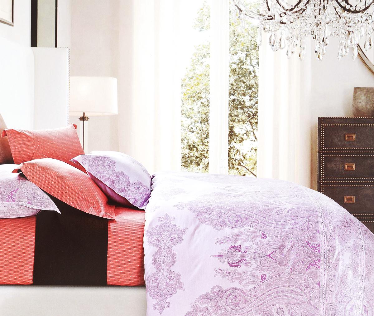 Комплект белья Arya Sevina, 2-спальный, наволочки 50х70, 70х70 полотенца банные arya полотенце arya maxi crest