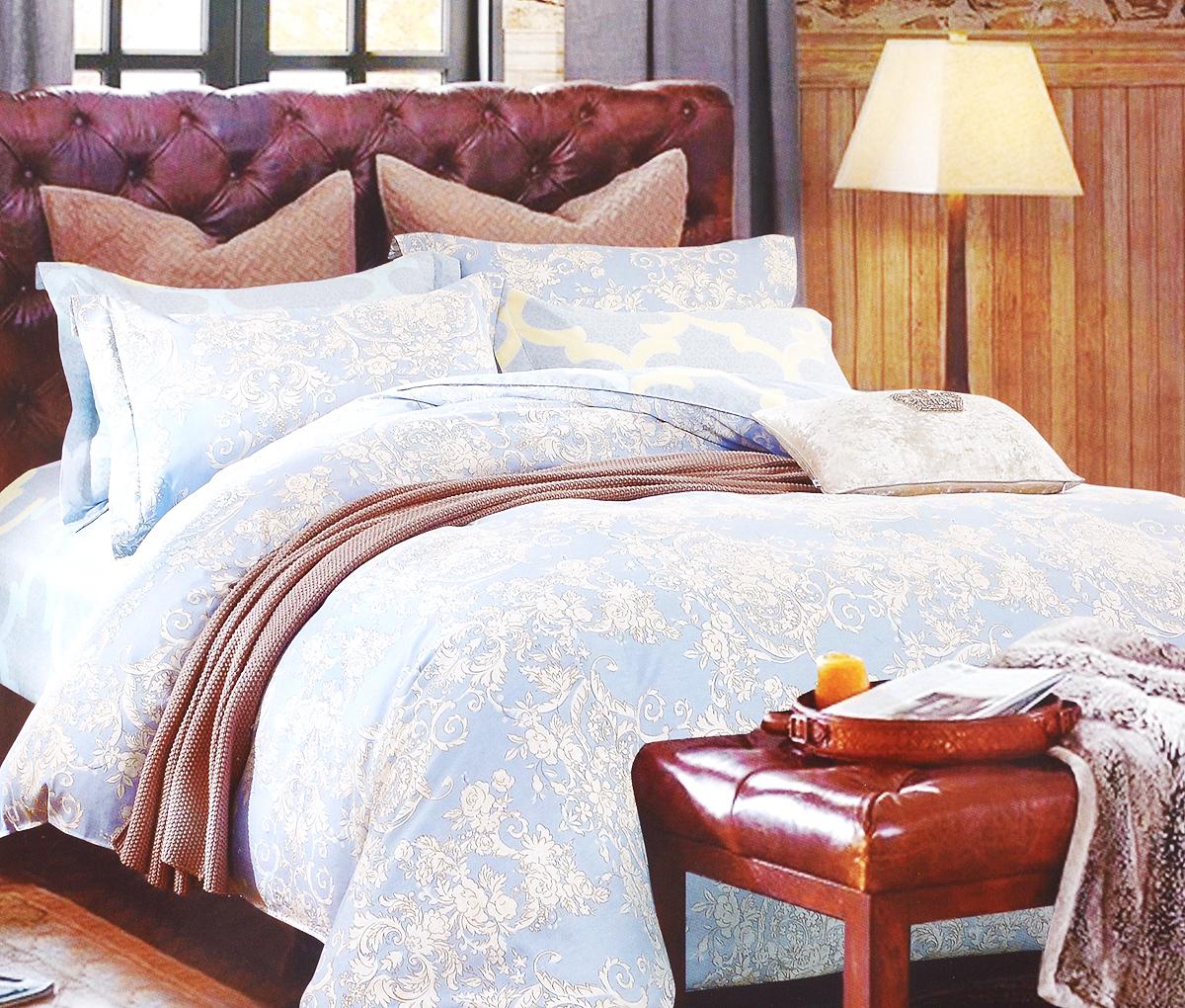 Комплект белья Arya Dominga, 2-спальный, наволочки 50х70, 70х70TR1002261Роскошный комплект постельного белья Arya Dominga состоит из пододеяльника, простыни и 4 наволочек, выполненных из сатина (100% хлопка). Сатин - прочная и плотная ткань с диагональным переплетением нитей. Сатиновое постельное белье легко переносит стирку в горячей воде, не выцветает, не соскальзывает с кровати и приятно на ощупь.Благодаря такому комплекту постельного белья вы создадите неповторимую атмосферу в вашей спальне.