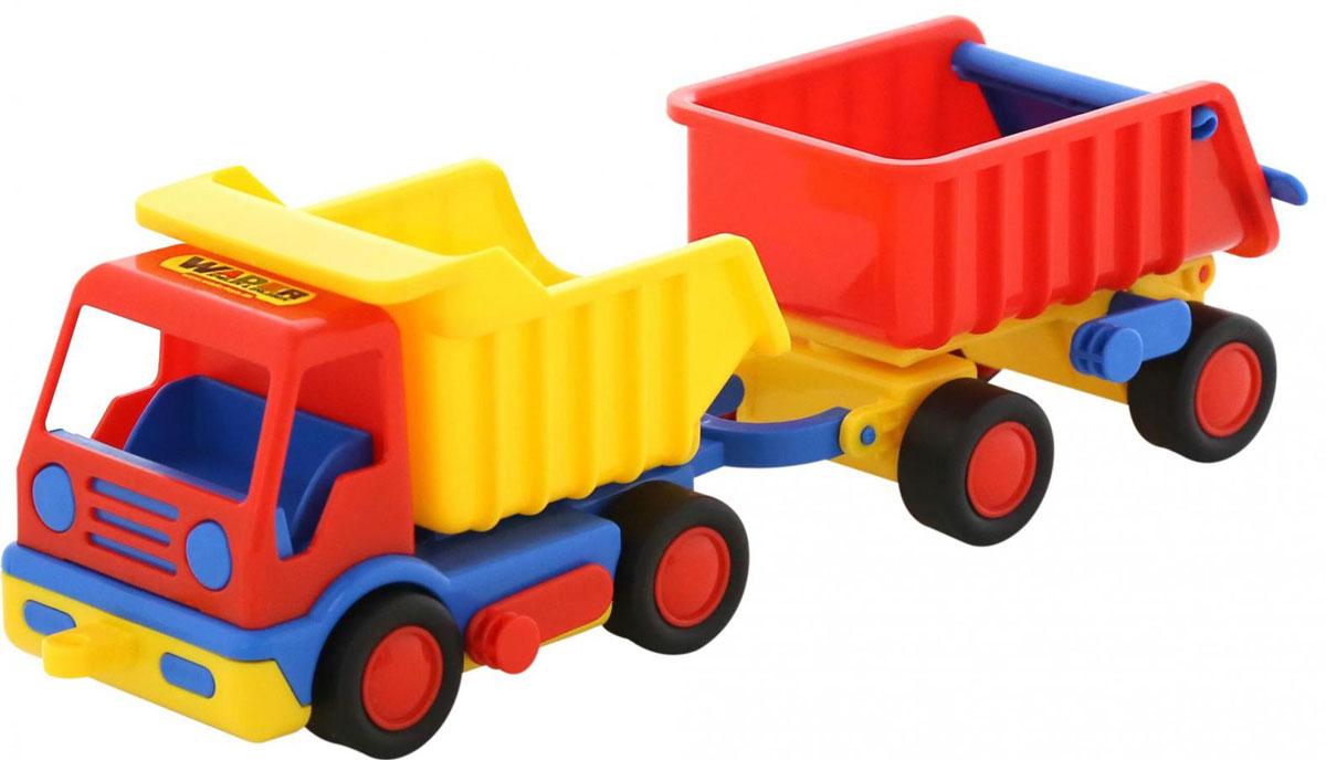 Полесье Самосвал Базик с прицепом игрушечные машинки на пульте управления по грязи купить