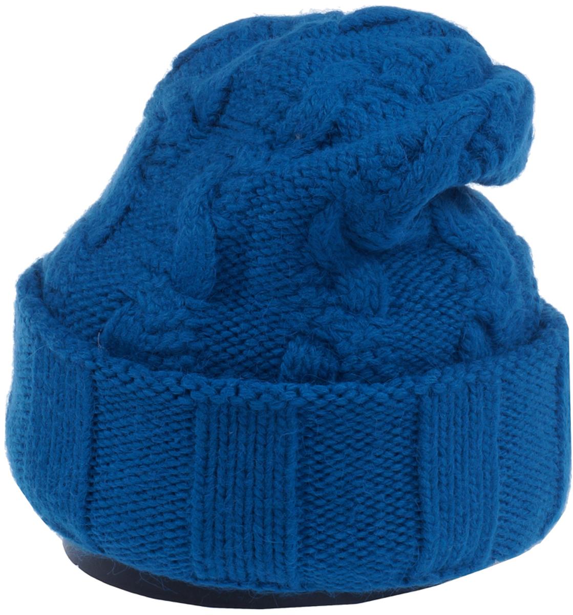 Шапка женская Vittorio Richi, цвет: бирюза. Aut141937V-19/17. Размер 56/58Aut141937VСтильная женская шапка Vittorio Richi отлично дополнит ваш образ в холодную погоду. Модель, изготовленная из высококачественных материалов, максимально сохраняет тепло и обеспечивает удобную посадку. Шапка дополнена ажурной вязкой. Привлекательная стильная шапка подчеркнет ваш неповторимый стиль и индивидуальность.Шапка двойная