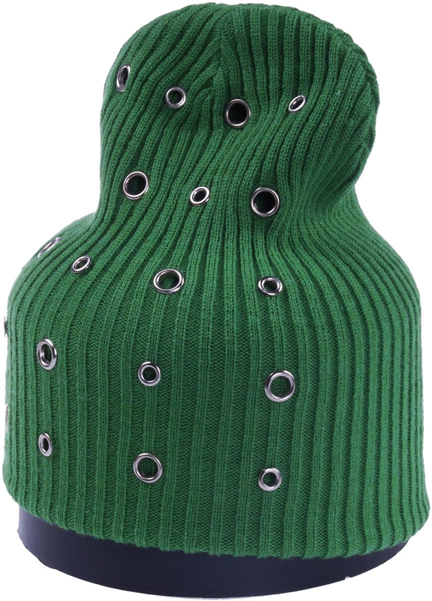 Шапка женская Vittorio Richi, цвет: зеленый. Aut241879B-84/17. Размер 56/58Aut241879BСтильная женская шапка Vittorio Richi отлично дополнит ваш образ в холодную погоду. Модель, изготовленная из шерсти с добавлением полиамида, максимально сохраняет тепло и обеспечивает удобную посадку. Шапка дополнена декоративными, металлическими кольцами. Привлекательная стильная шапка подчеркнет ваш неповторимый стиль и индивидуальность.