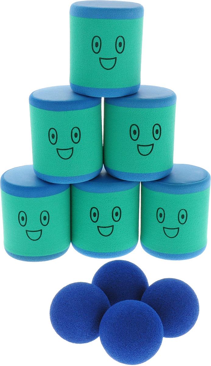 Safsof Игровой набор Городки цвет мятный синий городки