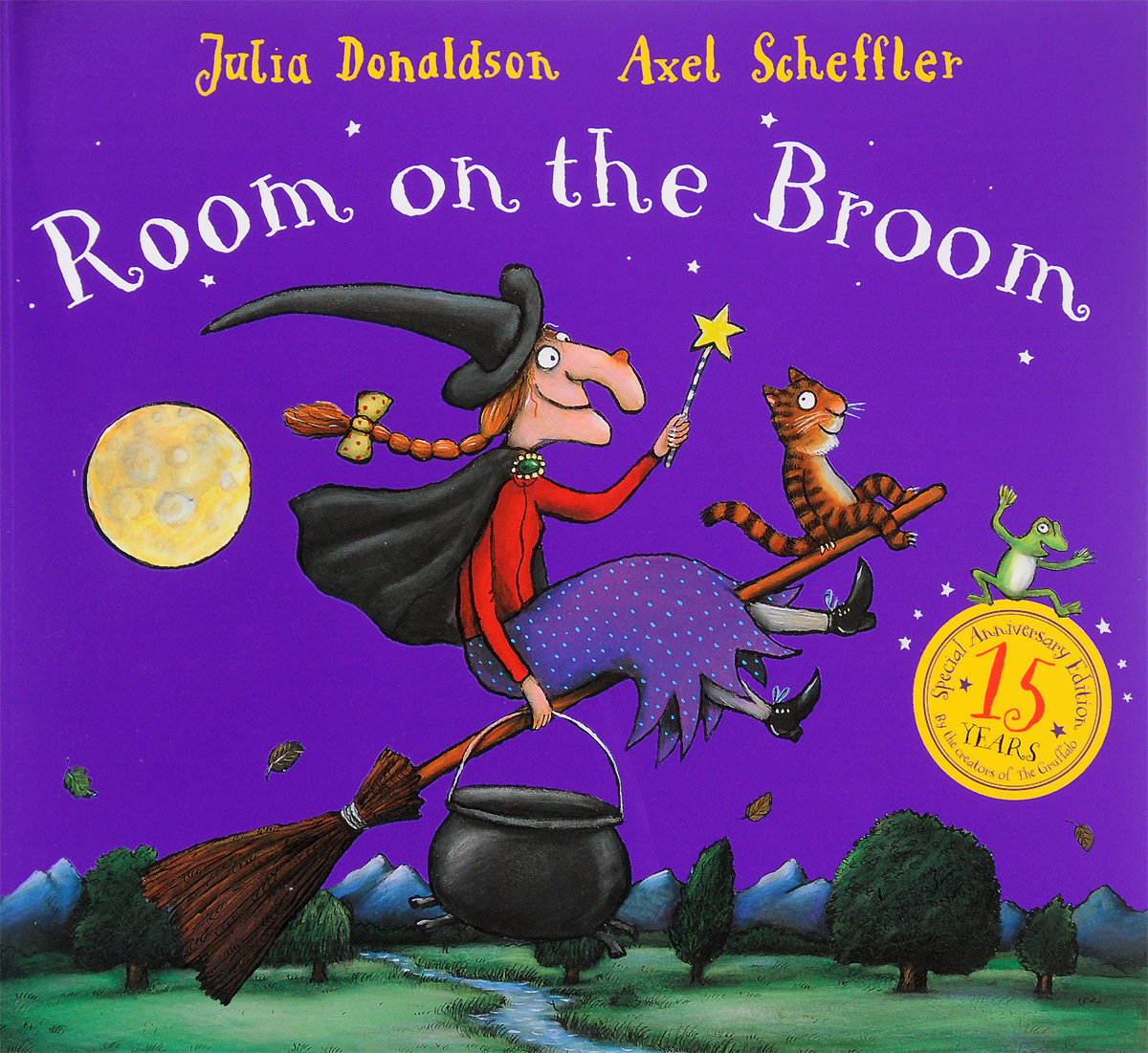 Room on the Broom a cat a hat and a piece of string
