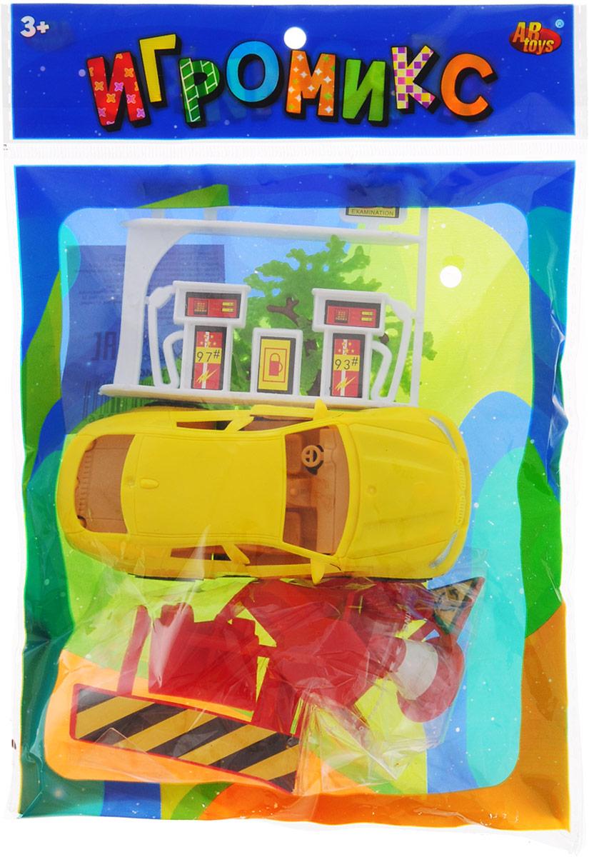 ABtoysИгровой набор Автозаправка цвет машинки желтый ABtoys