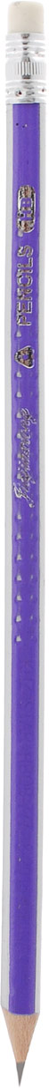 Карандаш чернографитный с ластиком цвет корпуса фиолетовый белый постников валентин юрьевич карандаш и самоделкин