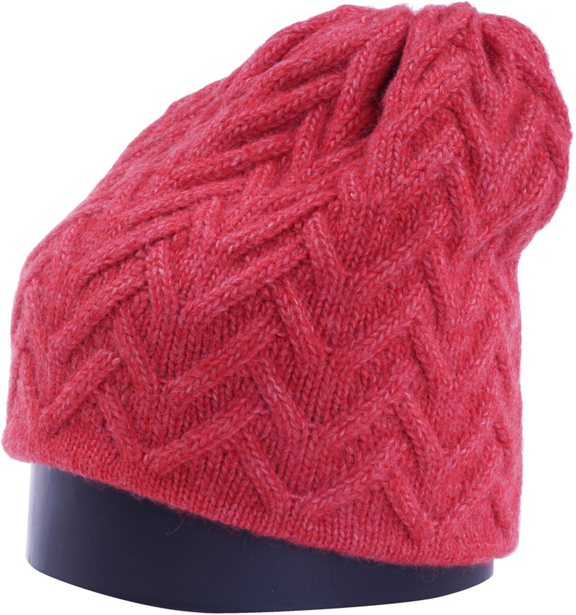 Шапка женская Vittorio Richi, цвет: коралловый. Aut141936V-28/17. Размер 56/58Aut141936VСтильная женская шапка Vittorio Richi отлично дополнит ваш образ в холодную погоду. Модель, изготовленная из высококачественных материалов, максимально сохраняет тепло и обеспечивает удобную посадку. Шапка дополнена ажурной вязкой. Привлекательная стильная шапка подчеркнет ваш неповторимый стиль и индивидуальность.