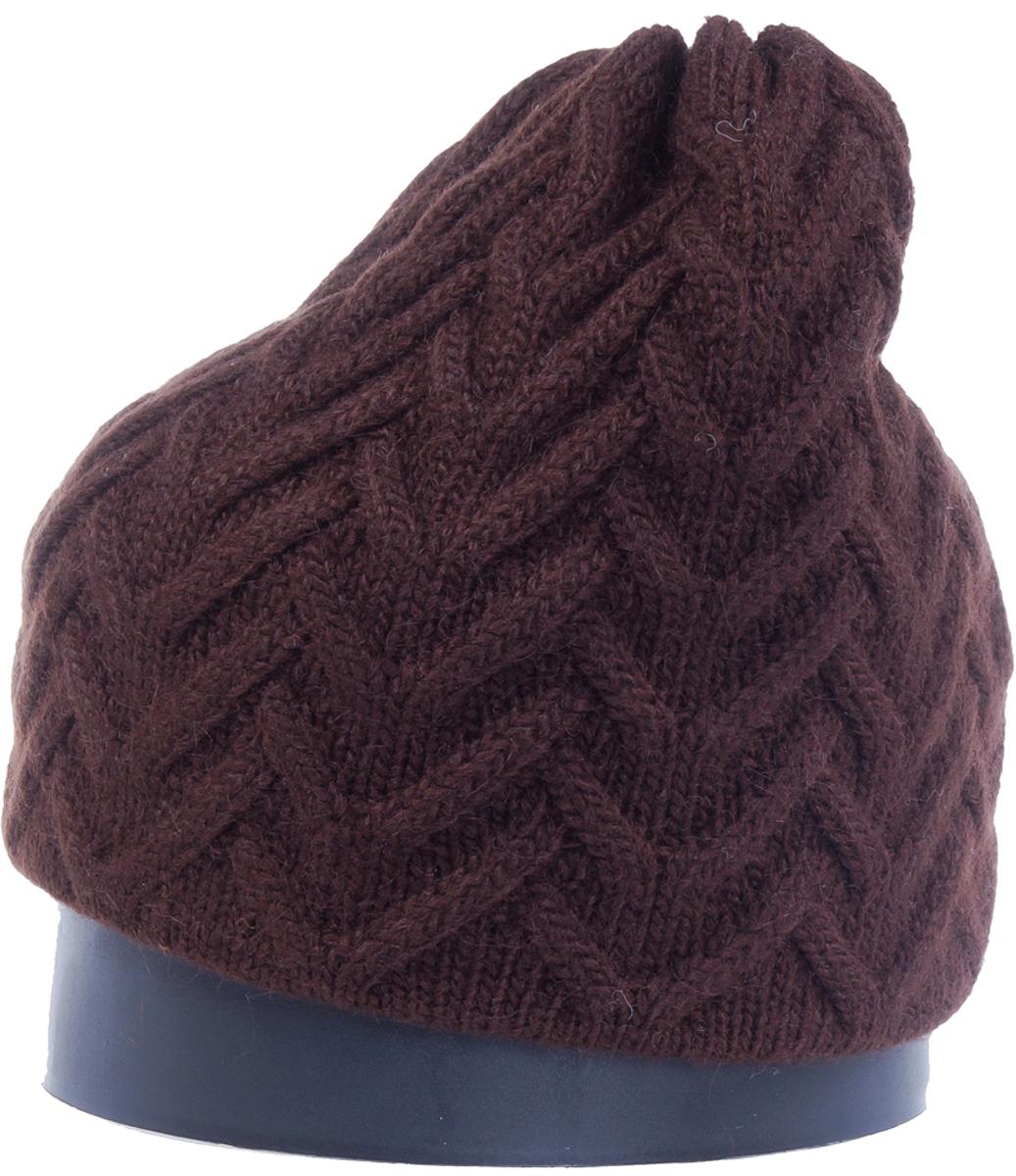 Шапка женская Vittorio Richi, цвет: коричневый. Aut141936V-85/17. Размер 56/58Aut141936VСтильная женская шапка Vittorio Richi отлично дополнит ваш образ в холодную погоду. Модель, изготовленная из высококачественных материалов, максимально сохраняет тепло и обеспечивает удобную посадку. Шапка дополнена ажурной вязкой. Привлекательная стильная шапка подчеркнет ваш неповторимый стиль и индивидуальность.