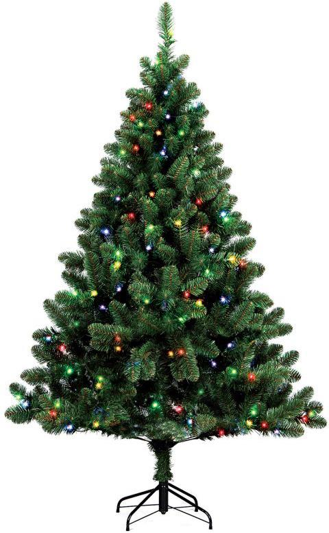 """Искусственная ель Royal Christmas """"Dakota Multi"""" - прекрасный вариант для оформления вашего интерьера к Новому году. Такие деревья абсолютно безопасны, удобны в сборке и не занимают много места при хранении. Ель состоит из верхушки, ствола и устойчивой подставки а так же украшена гирляндой. Ель быстро и легко устанавливается и имеет естественный и абсолютно натуральный вид, отличающийся от своих прототипов разве что совершенством форм и мягкостью иголок.   Еловые иголочки не осыпаются, не мнутся и не выцветают со временем. Полимерные материалы, из которых они изготовлены, нетоксичны и не поддаются горению.  Ель Royal Christmas """"Dakota Multi"""" обязательно создаст настроение волшебства и уюта, а также станет прекрасным украшением дома на период новогодних праздников. Размер подставки: 41,5 х 41,5 см."""
