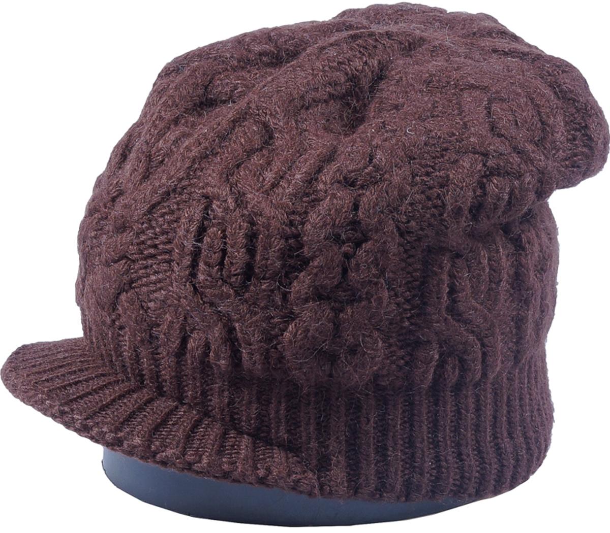 Шапка женская Vittorio Richi, цвет: коричневый. Aut261923V-85/17. Размер 56/58Aut261923VСтильная женская шапка Vittorio Richi отлично дополнит ваш образ в холодную погоду. Модель, изготовленная из высококачественных материалов, максимально сохраняет тепло и обеспечивает удобную посадку. Шапка дополнена ажурной вязкой. Привлекательная стильная шапка подчеркнет ваш неповторимый стиль и индивидуальность.
