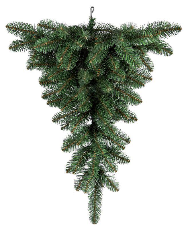 Ель искусственная Royal Christmas Upside Down Ceiling Tree, подвесная, высота 90 см54001Искусственная подвесная ель Royal Christmas Upside Down Ceiling Tree - прекрасный вариант для оформления вашего интерьера к Новому году. Такие деревья абсолютно безопасны, удобны в сборке и не занимают много места при хранении. Ель имеет естественный и абсолютно натуральный вид, отличающийся от своих прототипов разве что совершенством форм и мягкостью иголок. Подвешивается при помощи металлического крючка на потолок. Еловые иголочки не осыпаются, не мнутся и не выцветают со временем. Полимерные материалы, из которых они изготовлены, нетоксичны и не поддаются горению. Ель Royal Christmas Upside Down Ceiling Tree обязательно создаст настроение волшебства и уюта, а также станет прекрасным украшением дома на период новогодних праздников.
