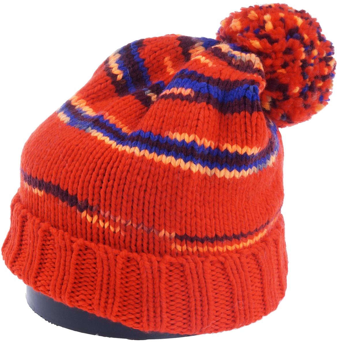 Шапка женская Vittorio Richi, цвет: оранжевый. Aut241809K-05/45/17. Размер 56/58Aut241809K-05/45/17Стильная женская шапка Vittorio Richi отлично дополнит ваш образ в холодную погоду. Модель, изготовленная из шерсти с добавлением полиамида, максимально сохраняет тепло и обеспечивает удобную посадку. Шапка дополнена принтом и помпоном. Привлекательная стильная шапка подчеркнет ваш неповторимый стиль и индивидуальность.