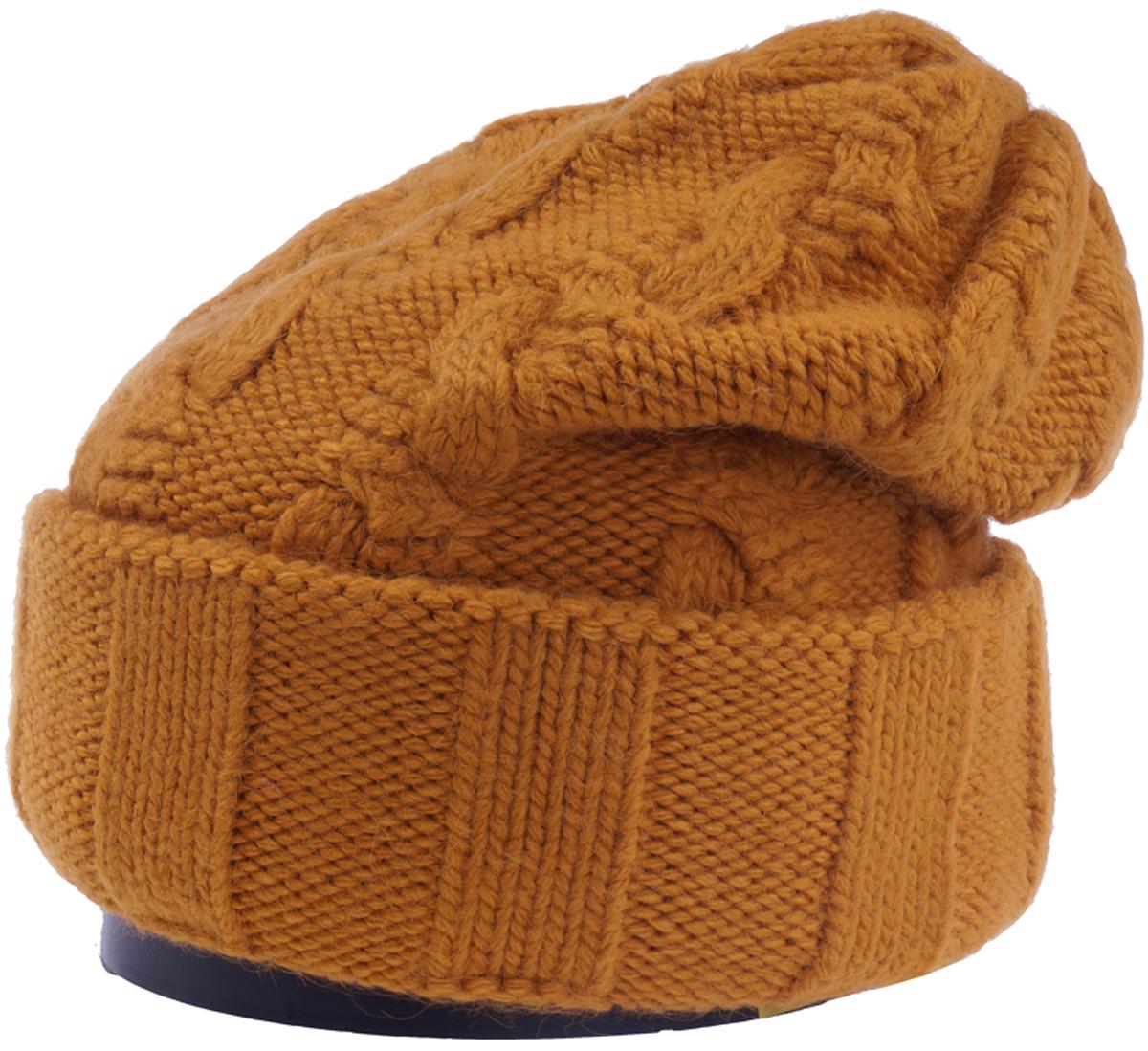 Шапка женская Vittorio Richi, цвет: охра. Aut141937V-42/17. Размер 56/58Aut141937VСтильная женская шапка Vittorio Richi отлично дополнит ваш образ в холодную погоду. Модель, изготовленная из высококачественных материалов, максимально сохраняет тепло и обеспечивает удобную посадку. Шапка дополнена ажурной вязкой. Привлекательная стильная шапка подчеркнет ваш неповторимый стиль и индивидуальность.Шапка двойная