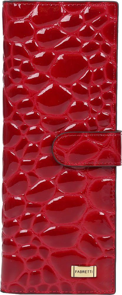 Визитница женская Fabretti, цвет: красный. 81502-red stones