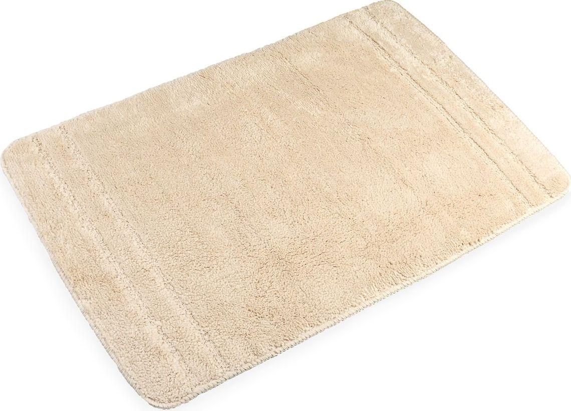 Коврик для ванной Verran Solo Beige, 60 х 90 см064-61Коврик из 100% микрофибры. Высота ворса 1,5 см. На оборотной стороне термопластиковая резиновая основа для предотвращения скольжения. Изделие подходит для системы «теплый пол», не прилипает к полу, не расслаивается и не источает запахов в процессе эксплуатации. Гарантия 2 года.