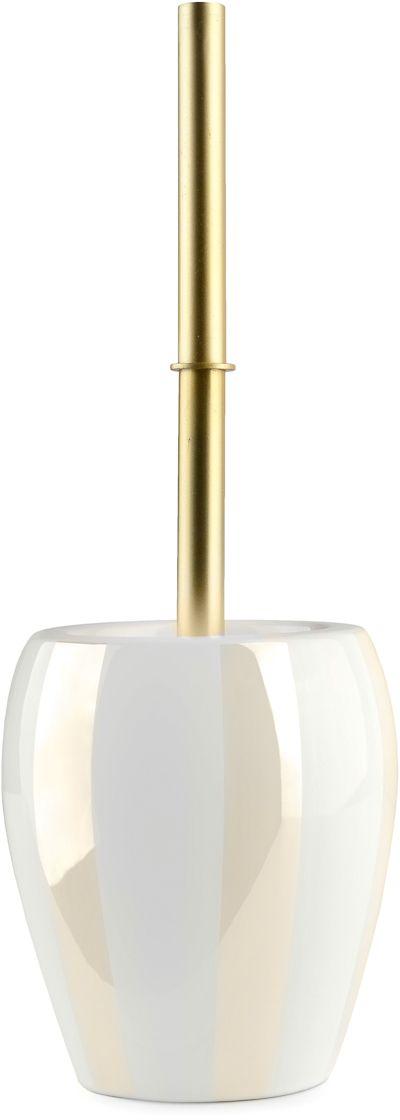 Ершик напольный Verran Randig. 795-61795-61Благородный блеск перламутровой деколи, нанесенной на белоснежную керамическую поверхность ершика, и простые формы придают новое звучание интерьеру ванной комнаты, созданному под влиянием классического стиля.