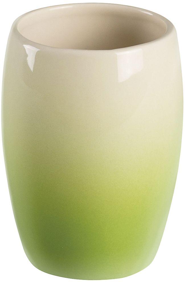 Стакан для зубных щеток Verran Ombre green. 850-24850-24Предмет выполнен в технике омбре. Омбре или деграде - это плавный переход одного цвета в другой или градиент.