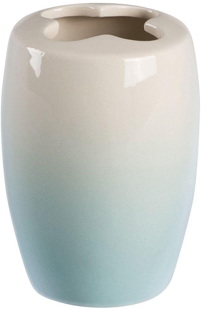 Стакан для зубных щеток с разделителем Verran Ombre blue. 860-23 сухой туалет с разделителем biolan