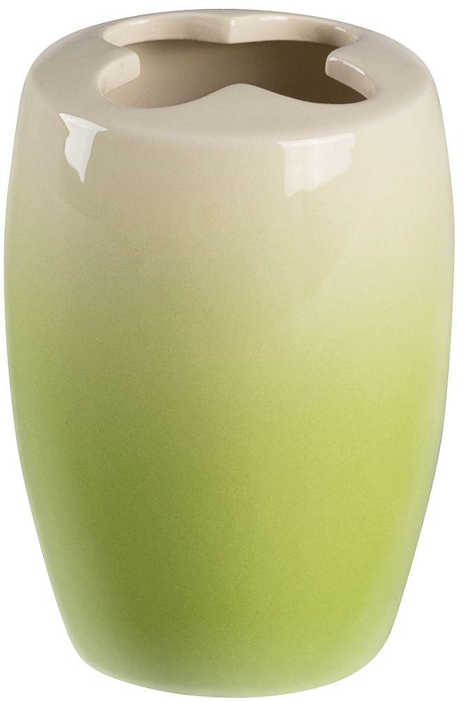 Стакан для зубных щеток с разделителем Verran Ombre green. 860-24860-24Стакан с разделителем для зубных щеток выполнен в технике омбре. Омбре или деграде - это плавный переход одного цвета в другой или градиент.