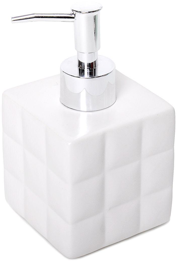 Дозатор для жидкого мыла Verran Quadratto. 870-11870-11Четкие геометрические формы аксессуара подойдут для приверженцев современного минималистичного дизайна. Белоснежная поверхность дозатора для жидкого мыла, разделенная на множество квадратов, повторяет ритм, задаваемый кафельной плиткой, и позволяет интерьеру иметь актуальное и гармоничное звучание.