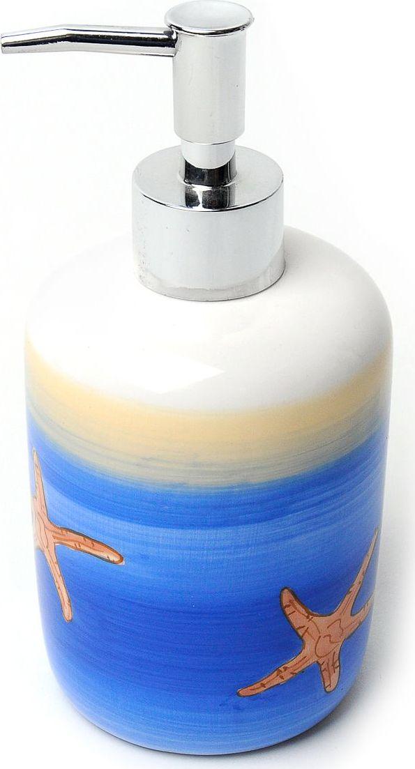 Дозатор для жидкого мыла Verran Sand Beach. 872-34872-34Для создания интерьера ванной комнаты в морском стиле прекрасно подойдет этот аксессуар. Морские звезды, использованные в оформлении дозатора для жидкого мыла, добавляют живости и поднимают настроение, напоминая о замечательных днях отпуска.