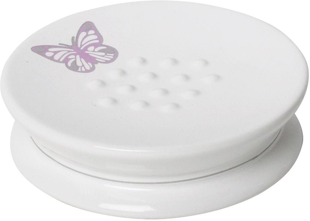 Мыльница Verran Butterfly. 880-06880-06На белоснежную керамическую поверхность этой мыльницы нанесена деколь с рисунком в виде бабочек. Аксессуар превосходно впишется в нежный романтический интерьер ванной комнаты, исполненный в светлых тонах.